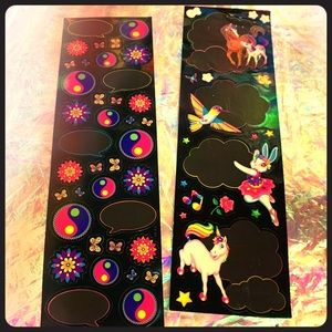 EXCELLENT Dream Writers sticker strips Lisa Frank